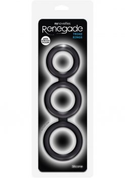 Renegade Triad Rings Silicone Cock Ring Black