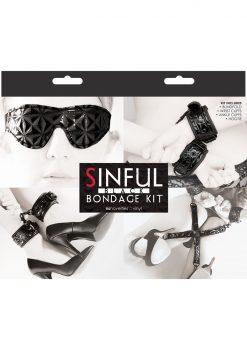 Sinful Bondage Vinyl Kit Black