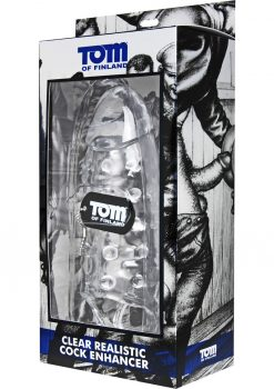 Tom Of Finland Clear Realistic Cock Enhancer 9.5 Inch