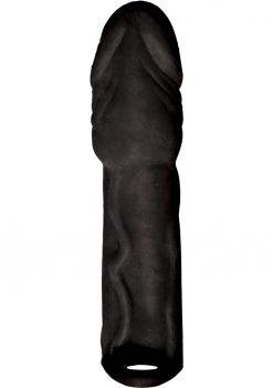 Skinsations Black Diamond Husky Lover Extension Sleeve With Scrotum Strap Black 6.5 Inch