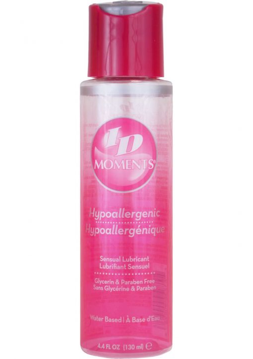 ID Moments Hypoallergenic Water Based Sensual Lubricant 4.4 Ounce