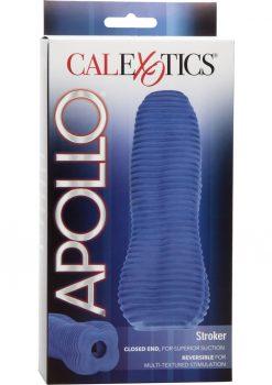 Apollo Stroker Closed End Textured Masturbator Blue 6.25 Inch