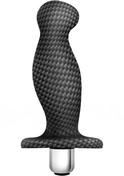 Spark Ignition Prv-03 Silicone Textured Prostate Massager Black 5 Inch
