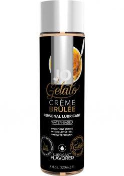 Jo Gelato Water Based Personal Lubricant Creme Brulee 4 Ounce Bottle