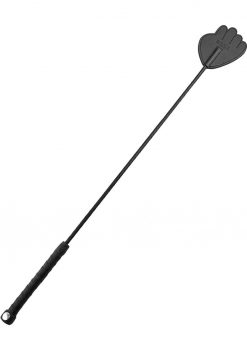Rouge Leather Hand Riding Crop Black