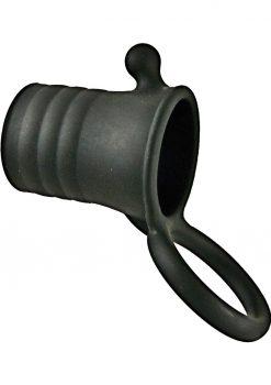 Maxx Men Clitmaster Silicone Cocksleeve Waterproof Black