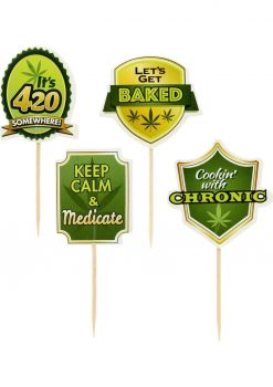 Party Picks Cannabis Toothpick Toppers 24 Each Per Pack