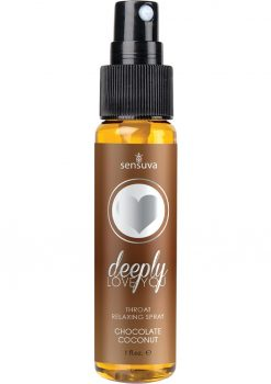 Sensuva Deeply Love You Throat Relaxing Spray Chocolate Coconut Flavor 1oz