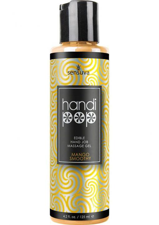 Handi Pop Edible Hand Job Massage Gel Mango Smoothie Flavored Lubricant 4.2oz