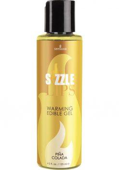 Sensuva Sizzle Lips Warming Edible Gel Pina Colada Flavor 4.2oz