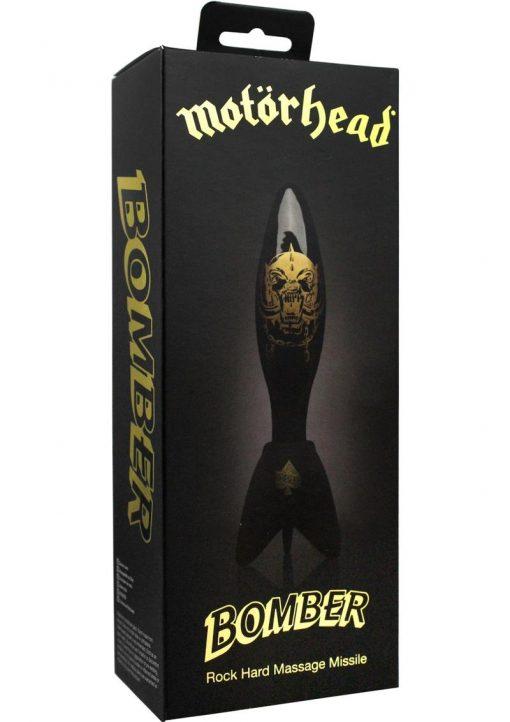 Motorhead Bomber Rock Hard Glass Massage Missile Black