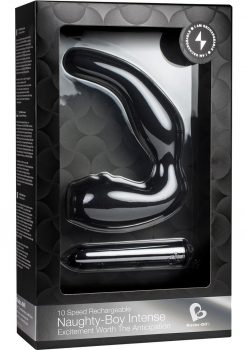 Naughty Boy Intense 10 Speed Rechargeable Silicone Waterproof Black