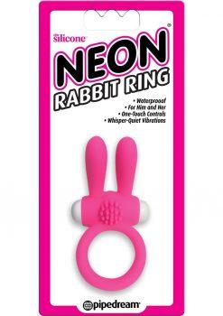 Neon Silicone Rabbit Ring Waterproof Pink