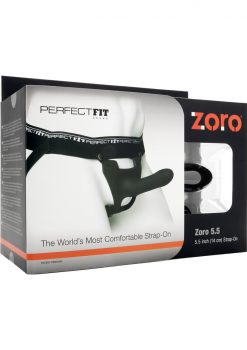 Perfect Fit Zoro 5.5in Silicone Strap-On System - Black