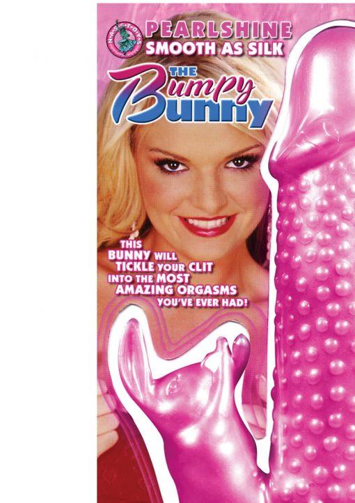 Pearlshine Smooth As Silk The Bumpy Bunny Vibrator Waterproof 7 Inch Pink