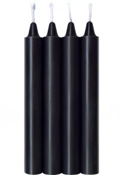 Make Me Melt Warm Drip Candles Jet Black 4 Pack