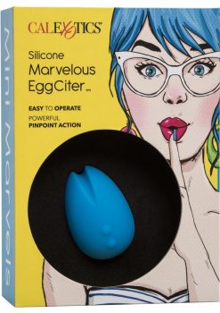 Mini Marvels Marvelous EggCiter Silicone Rechargeable Egg Waterproof Blue 2.5 Inch