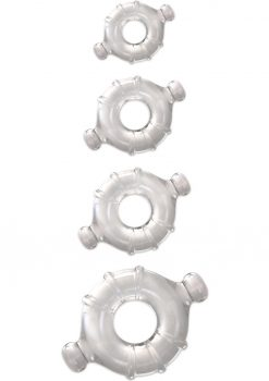 Renegade Vitality Rings 4 Cock Ring Set - Clear