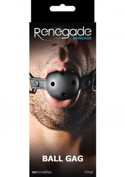 Renegade Bondage Vinyl Ball Gag Black