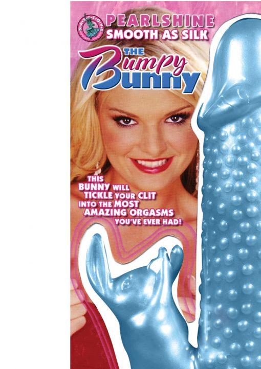 Pearlshine Smooth As Silk The Bumpy Bunny Vibrator Waterproof 7 Inch Blue