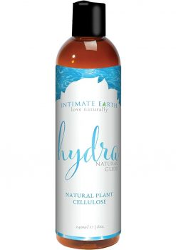 Intimate Earth Hydra Natural Glide Water Based Natural Plant Cellulose Lube 8oz