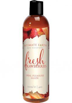Intimate Earth Oral Pleasure Glide Fresh Strawberries 4oz