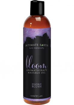 Intimate Earth Bloom Aromatherapy Massage Oil Peony Blush 4oz
