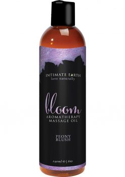 Intimate Earth Bloom Aromatherapy Massage Oil Peony Blush 8oz