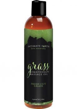 Intimate Earth Grass Aromatherapy Massage Oil Fresh Cut Grass 8oz