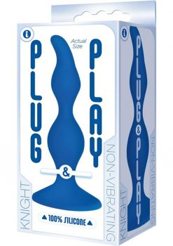 Plug and Play Knight Silicone Butt Plug Waterproof Blue