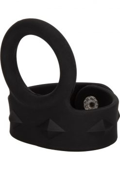 Silicone Tri-Snap Scrotum Support Ring Medium Black