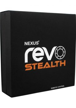 Nexus Revo Stealth USB Recharged Silicone Rotating Prostate Massager With Wireless Remote Control Black