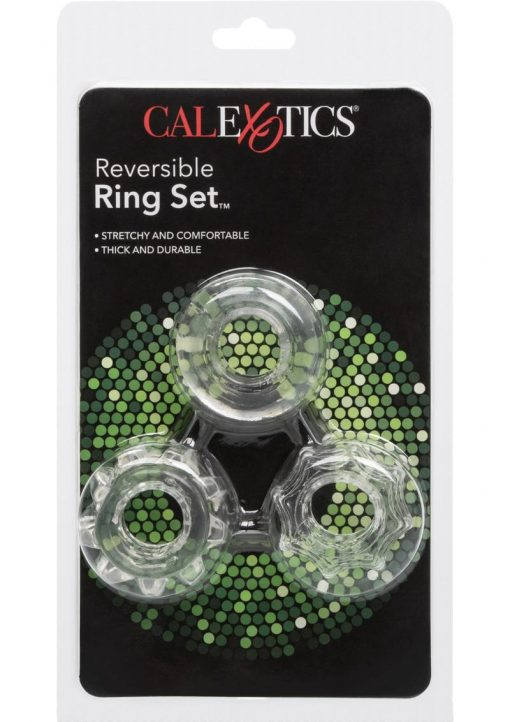 Reversible Cock Ring Set Clear