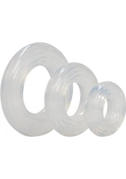 Premium Silicone Cock Ring Set Clear
