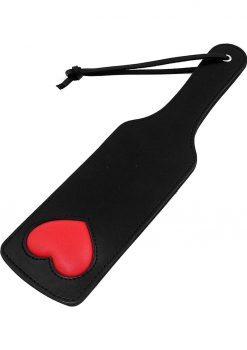 Rouge Leather Paddle With Heart