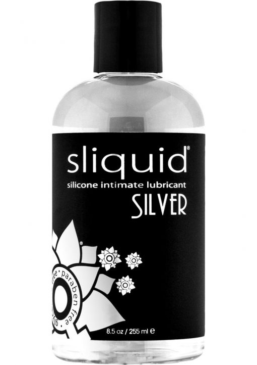 Sliquid Silver Silicone Intimate Lubricant 100% Vegan Waterproof 8.5 Ounce