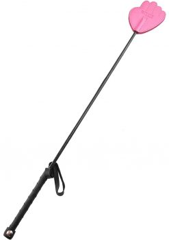 Rouge Hand Riding Crop Pink