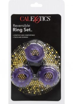 Reversible Cock Ring Set Purple