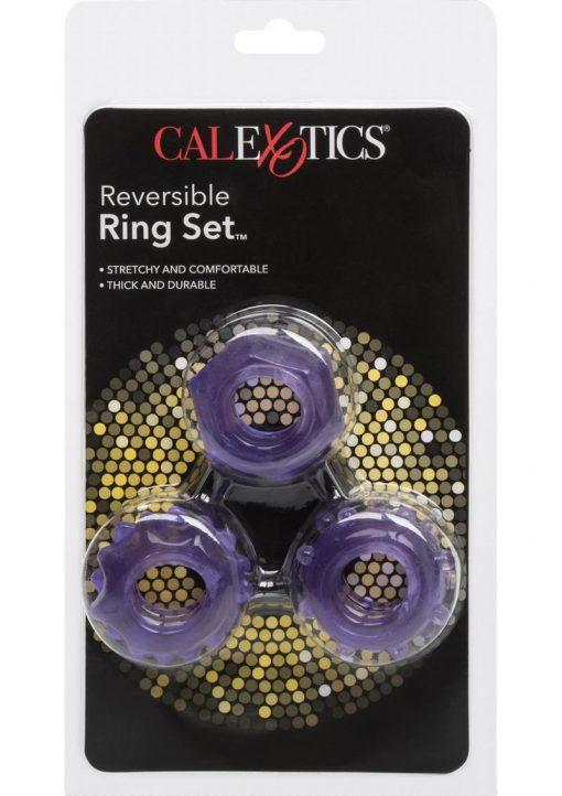 Reversible Cock Ring Set Purple
