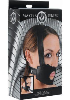 Master Series Face Fuk II Dildo Face Harness Black