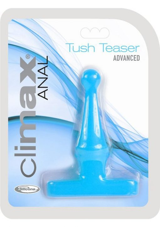 Climax Anal Tush Teaser Advanced Silicone Anal Plug Waterproof Blue