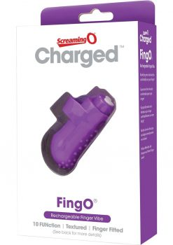 Charged Fing O Rechargeable Finger Mini Vibe Waterproof Purple