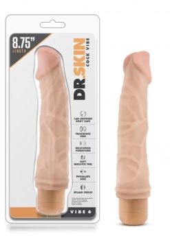 Dr. Skin Cock Vibe 06 Realistic Vibrator Splash Proof Natural 8.75 Inch