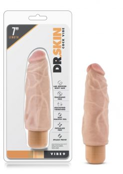Dr. Skin Cock Vibe 09 Realistic Vibrator Waterproof Natural 7 Inch