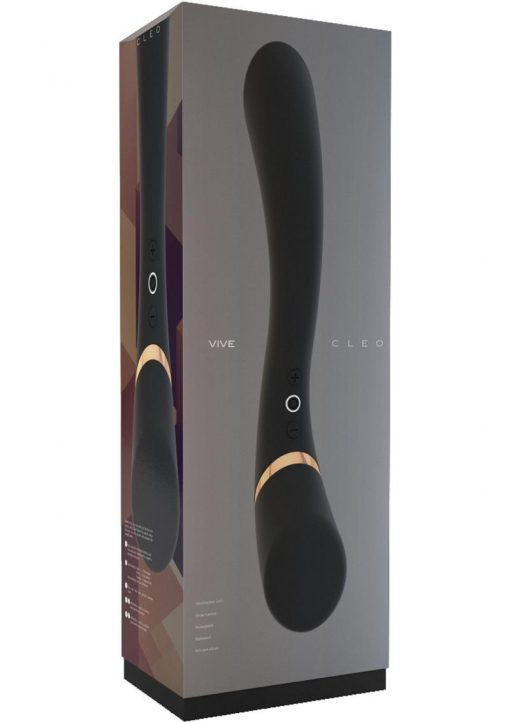 Vive Cleo Silicone USB Rechargeable Dual End Vibrator Waterproof Black