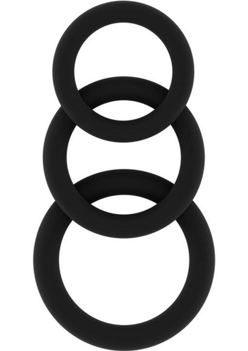 Sono No 25 Cockring Set Flexible Silicone Black