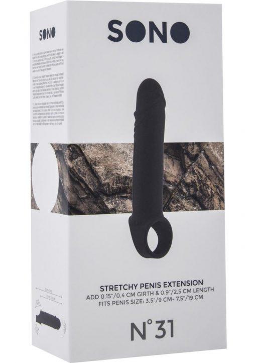 Sono No 31 Stretchy Penis Extension Black