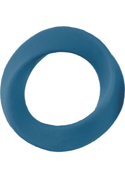 Mjuze Infinity Silicone Cock Ring Waterproof Blue Extra Large