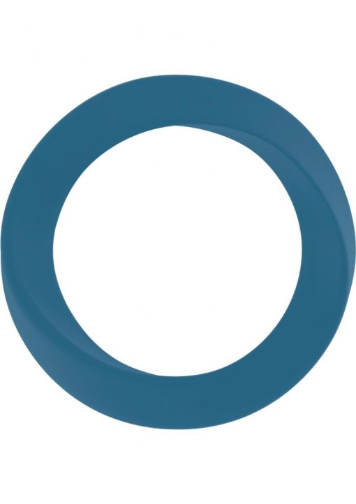 Mjuze Infinity Silicone Cock Ring Waterproof Blue Thin Large