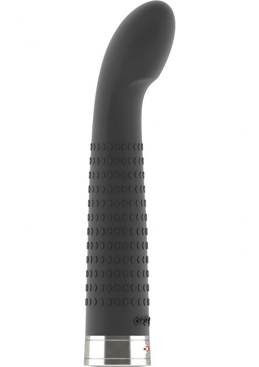 Retro Jet G-Spot Textured Silicone Vibrator Black